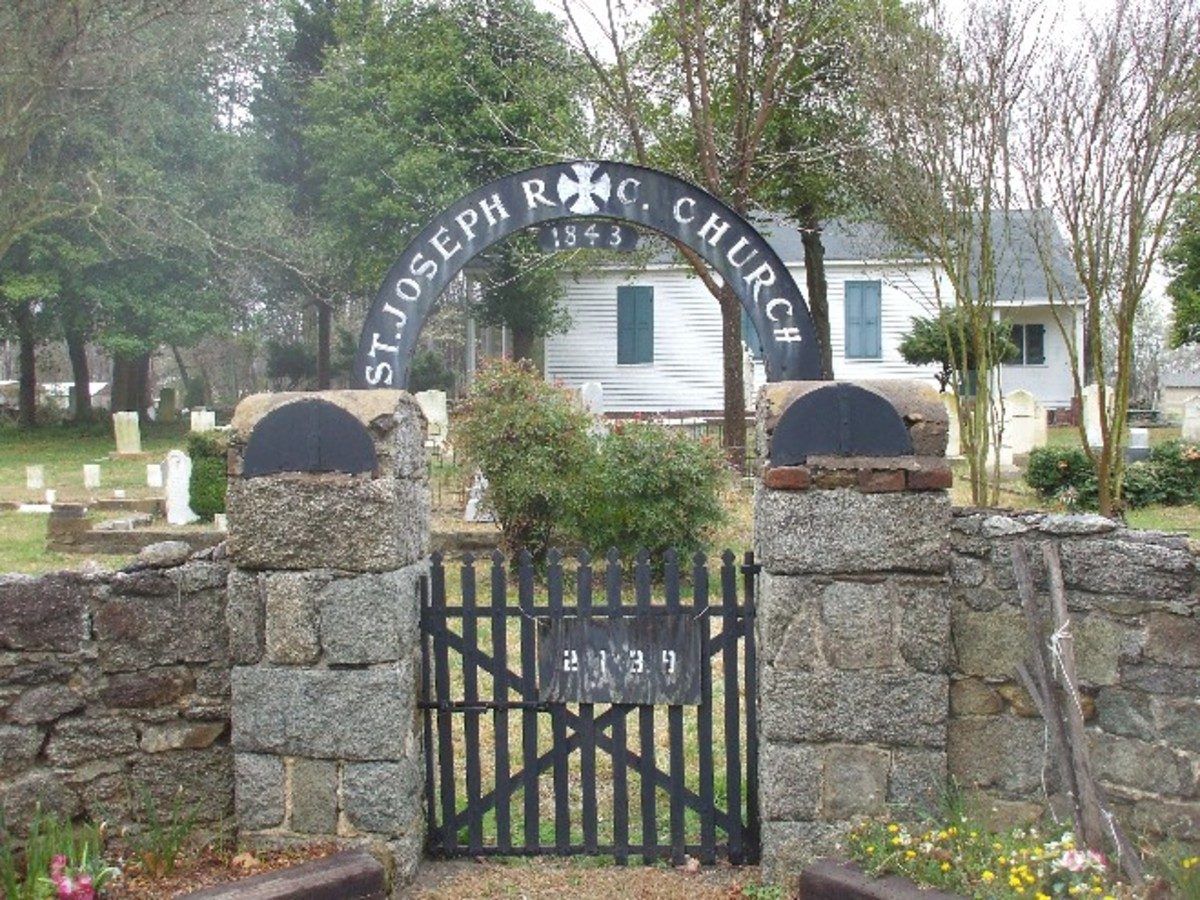The Ghost of A Priest Is Often seen in St Joseph Catholic Church Cemetery in Mt Holly N.C.