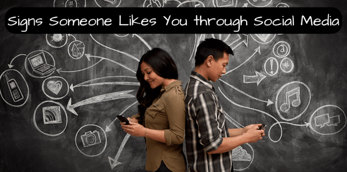 Signs Someone Likes You through Social Media Messaging