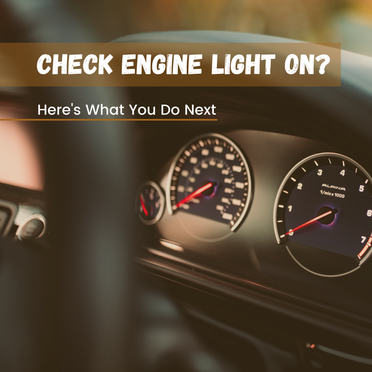 What should you do if your check engine light comes on?