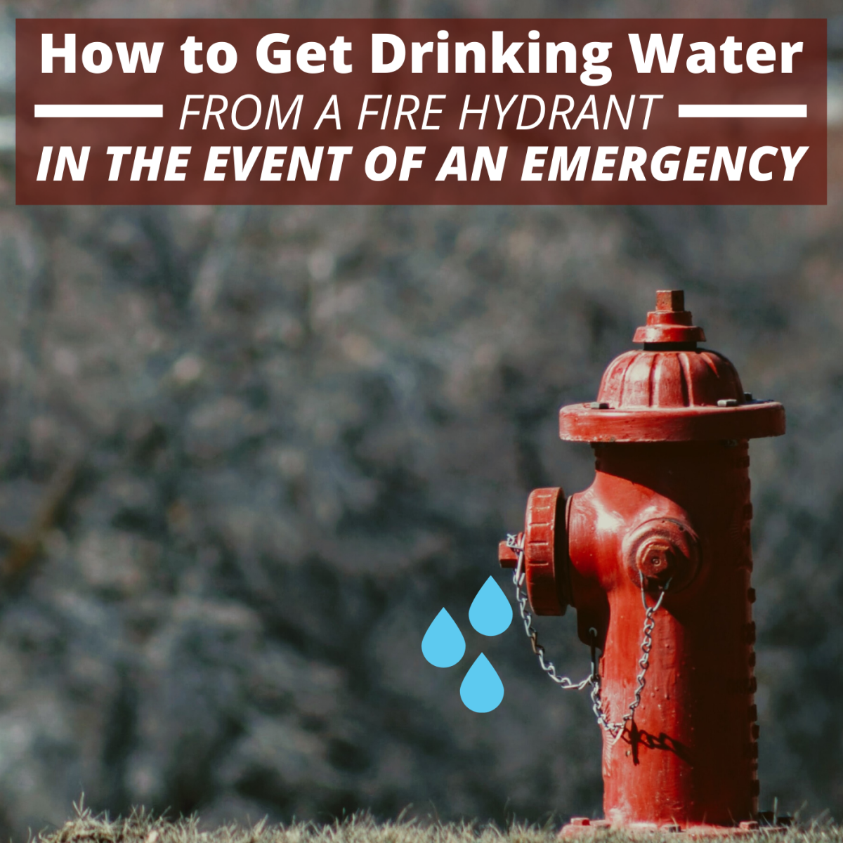Never attempt to open a fire hydrant for water unless you are in an emergency situation and have the needed supervision.