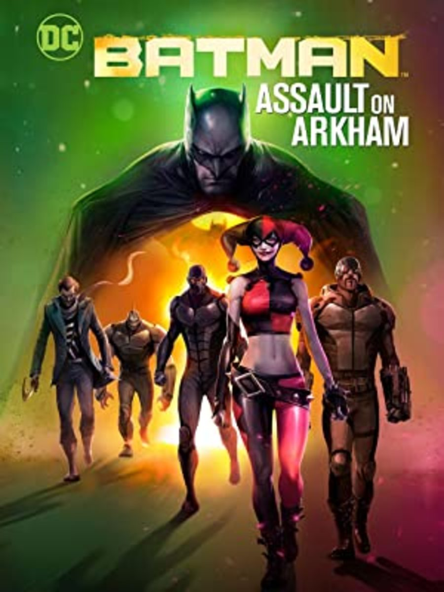 """Batman: Assault on Arkham"" blu-ray cover art."