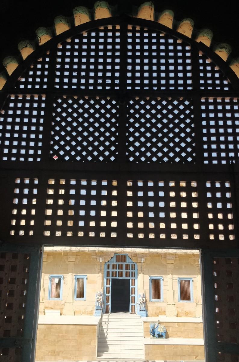 "The ""Jali"" work of Trivikram Ray-ji temple"