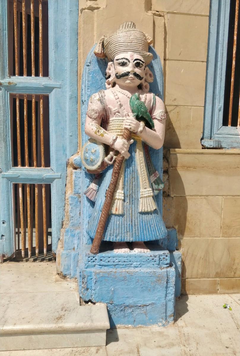 Dwarapala (Gatekeeper); Adinarayana temple