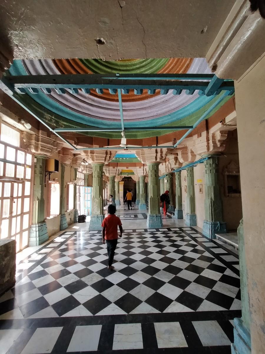 Common veranda of the shrines; Adinarayana temple