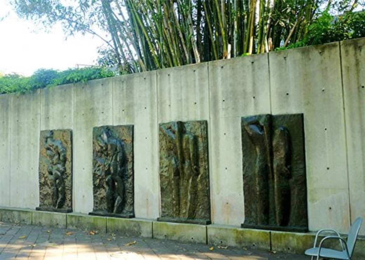 Wall with Back I, II, III, & IV by Henri Matisse in Cullen Sculpture Garden