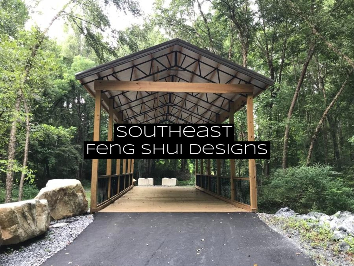 The Southeast embraces wood and water. Purple and green are the best colors here. Add fountains, wooden bridges, and mills. Wood furnishings are welcome.