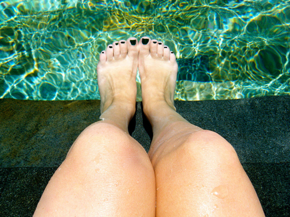 Resist the urge to jump right into the water after applying!