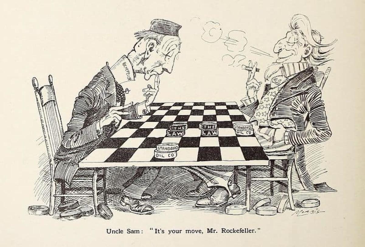 Uncle Sam and Rockefeller