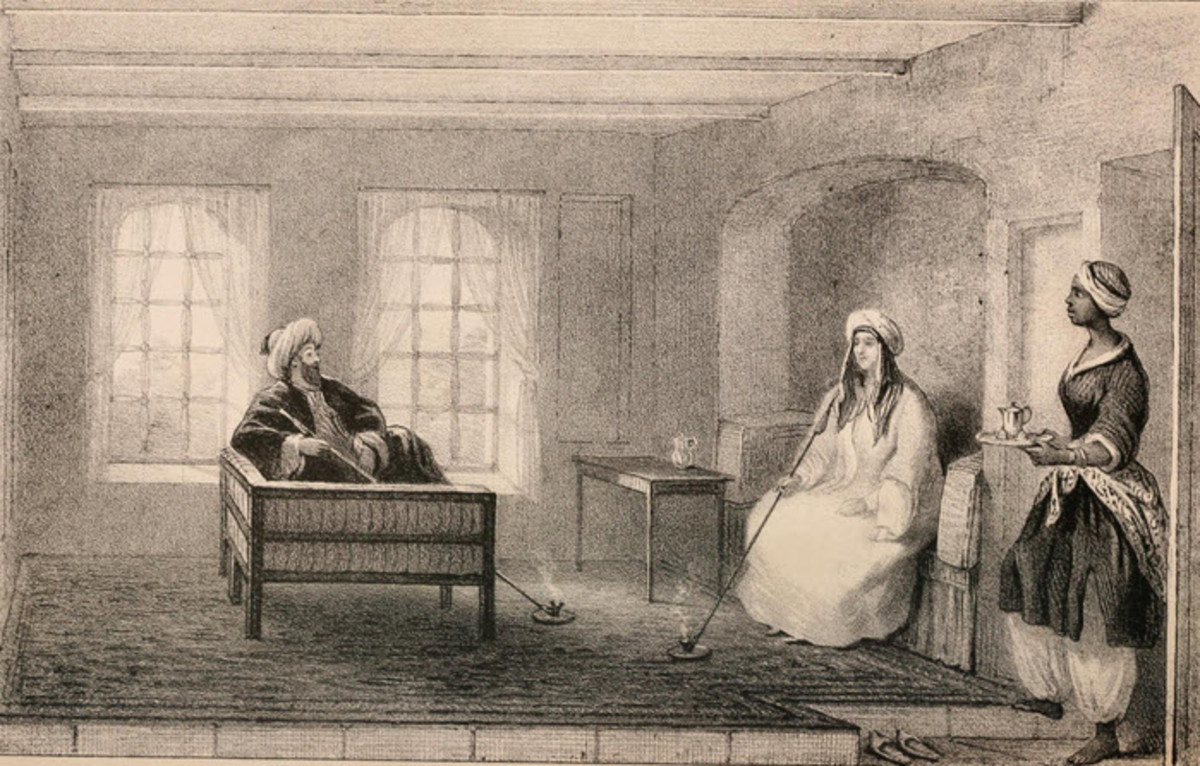 Lady Hester Stanhope Holding Court (from her Memoirs)