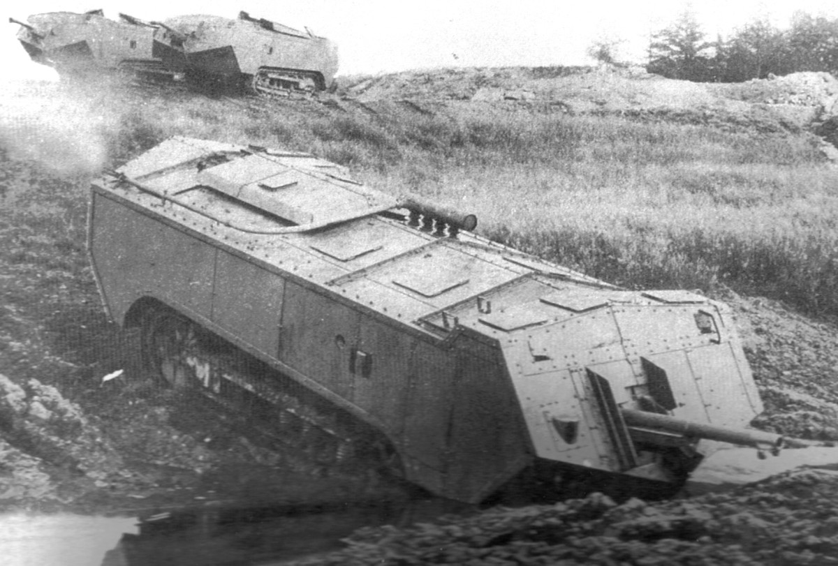 It is easy to see why French tanks initially ran into so many problems, with ungainly machines trying to negotiate such horrible terrain