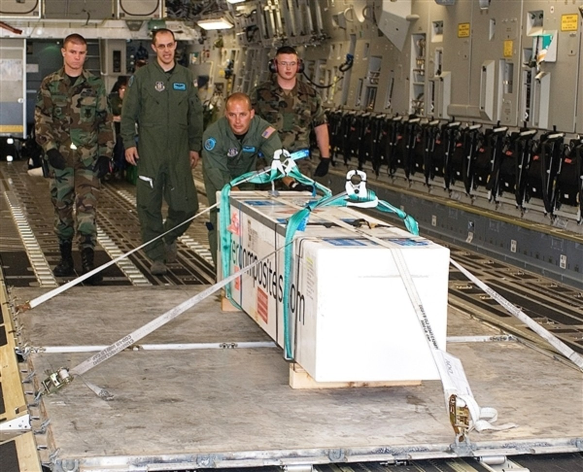 The precious cargo arriving at Dover Air Force Base.