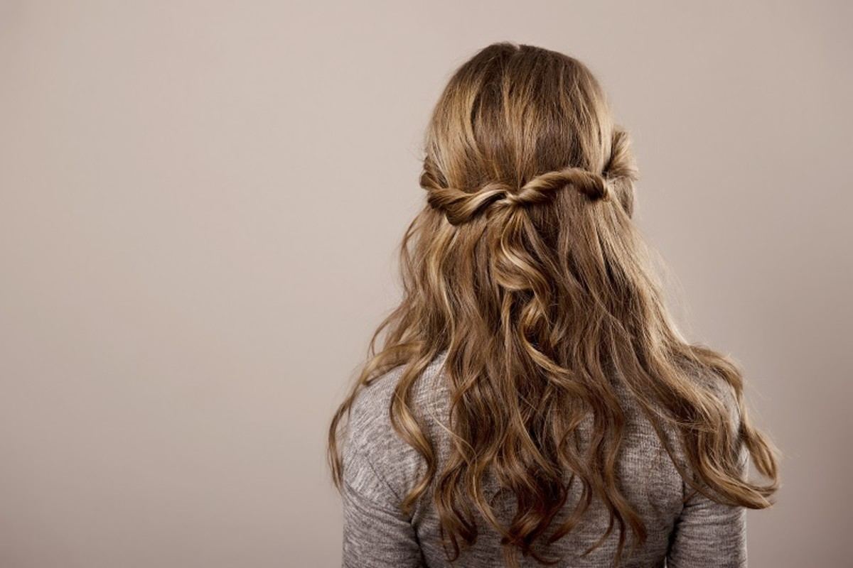 Light brown hair like this looks incredibly good when styled with braids.