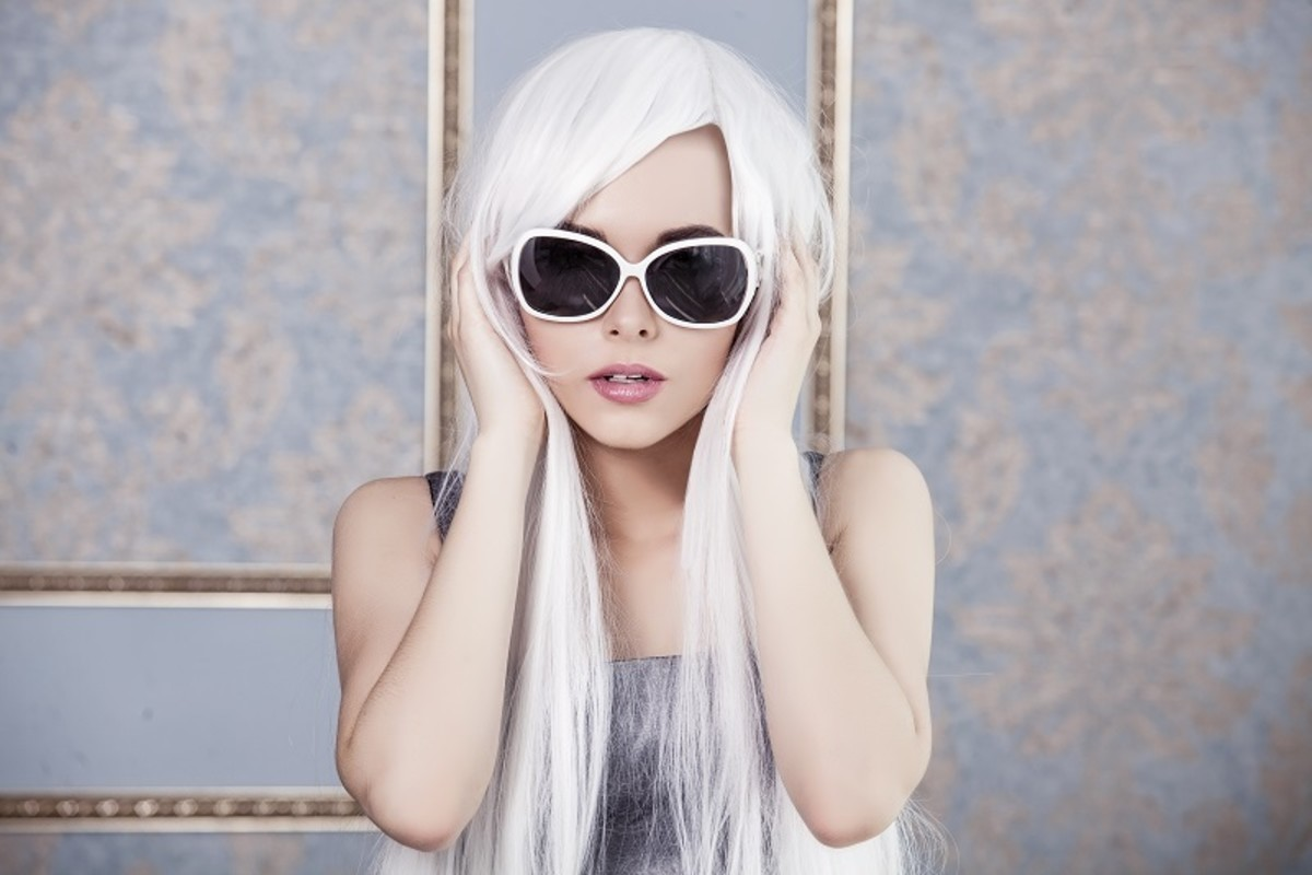 White hair is the ultimate fashion statement!