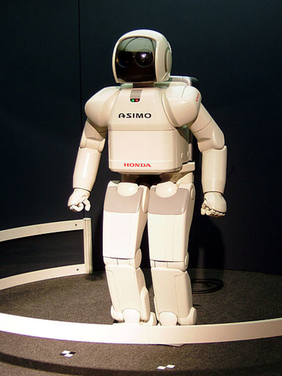 One of the first walking, talking electronic robots