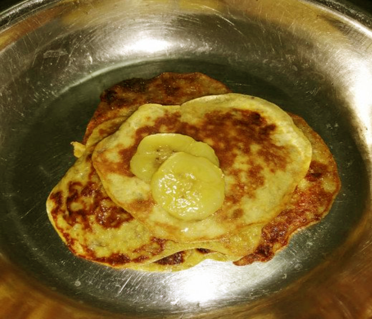 Simple and Tasty Flour-less Banana Pancake with a Protein Boost