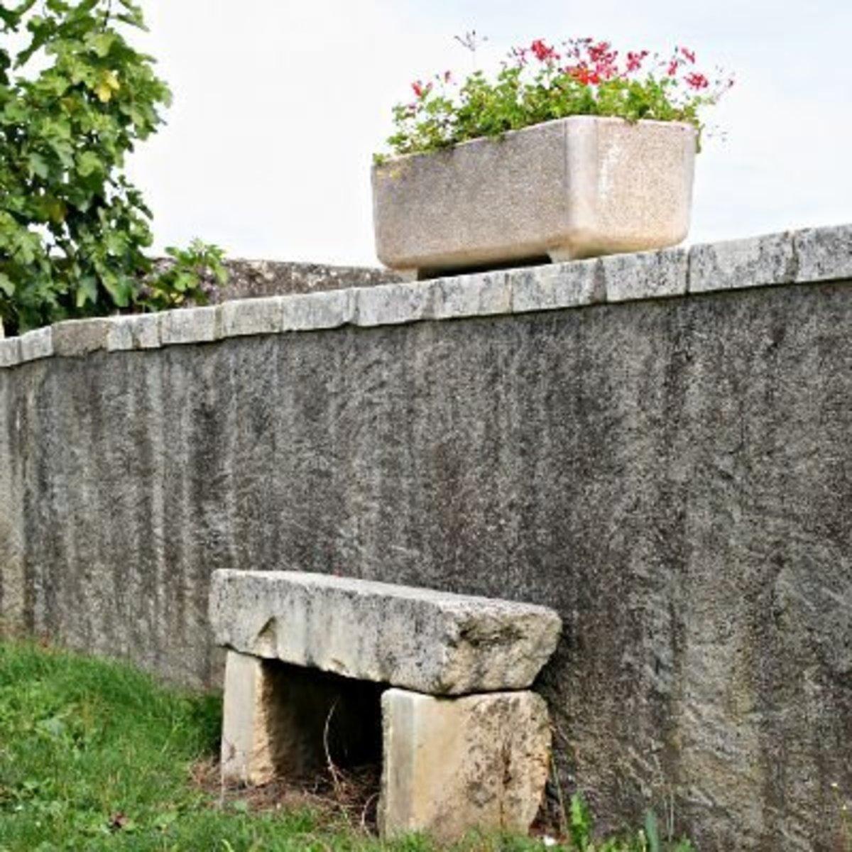 A stone seat