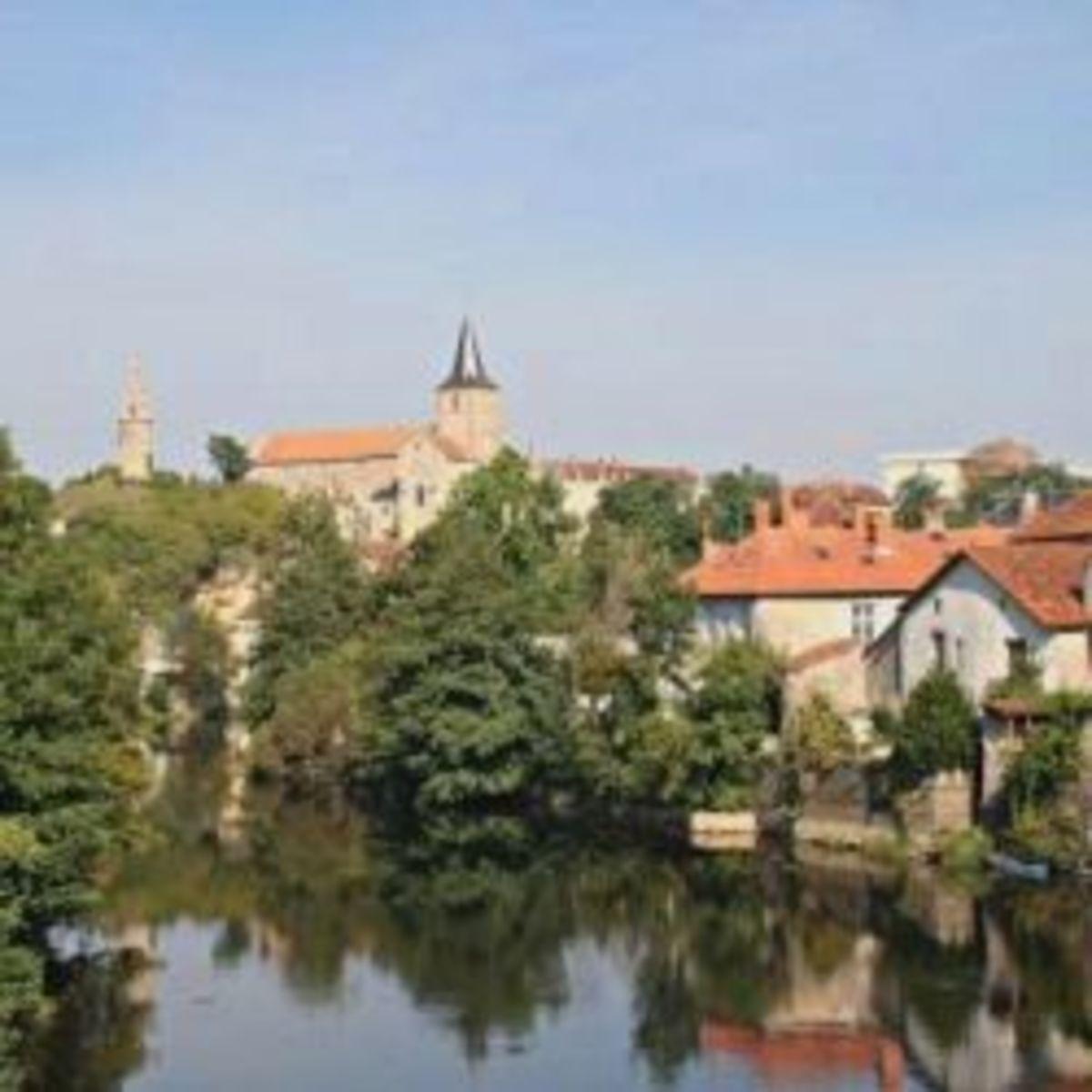 Montmorillon, the town seen from the bridge