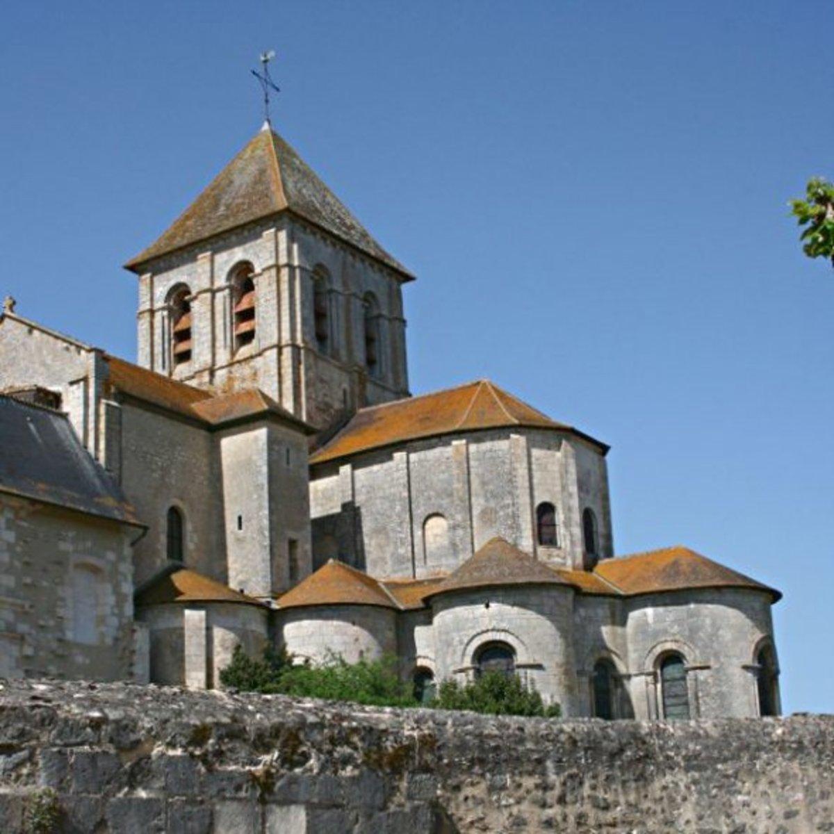 Eastern end of the abbey church in Saint-Savin