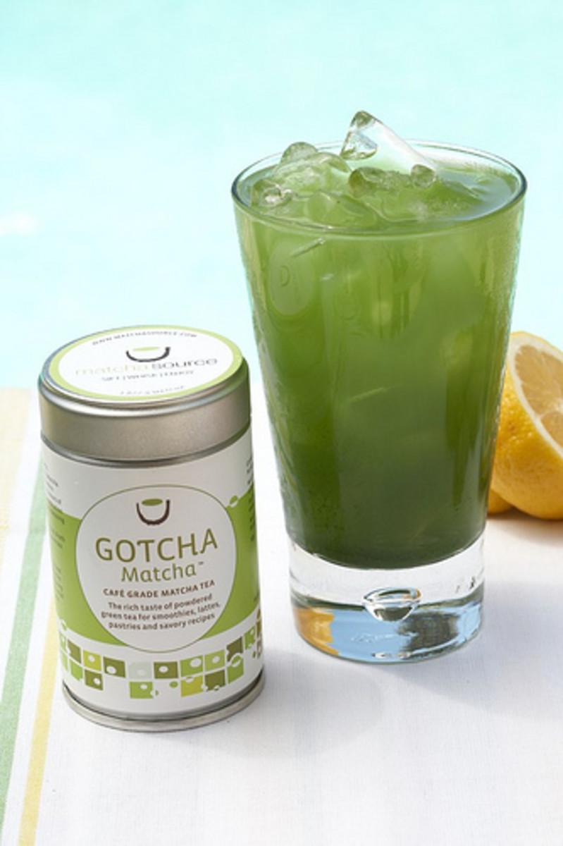 Enjoy a refreshing cup of antioxidant-rich matcha green tea.