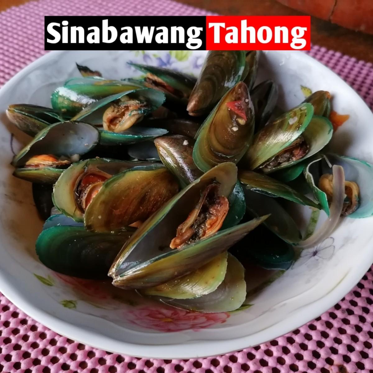 Sinabawang tahong (mussel soup)
