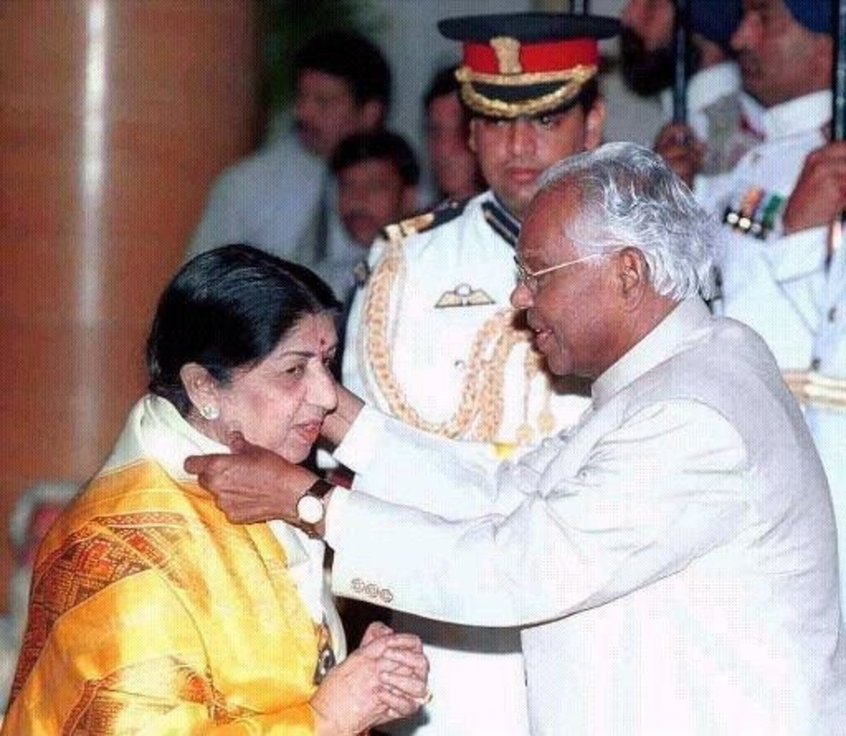 She awarded India's most honorable award Bharatratn Award'