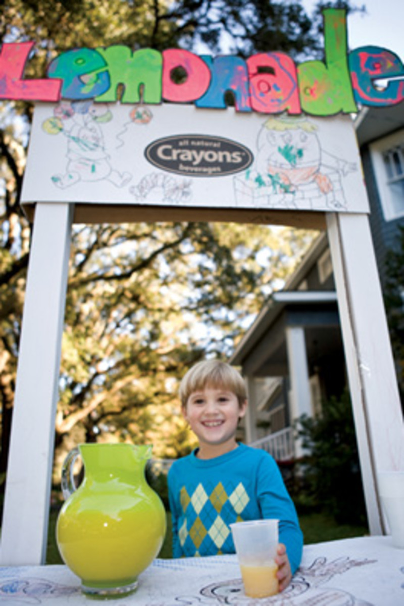 How children can create their own lemonade stand so they can learn to earn their own money.