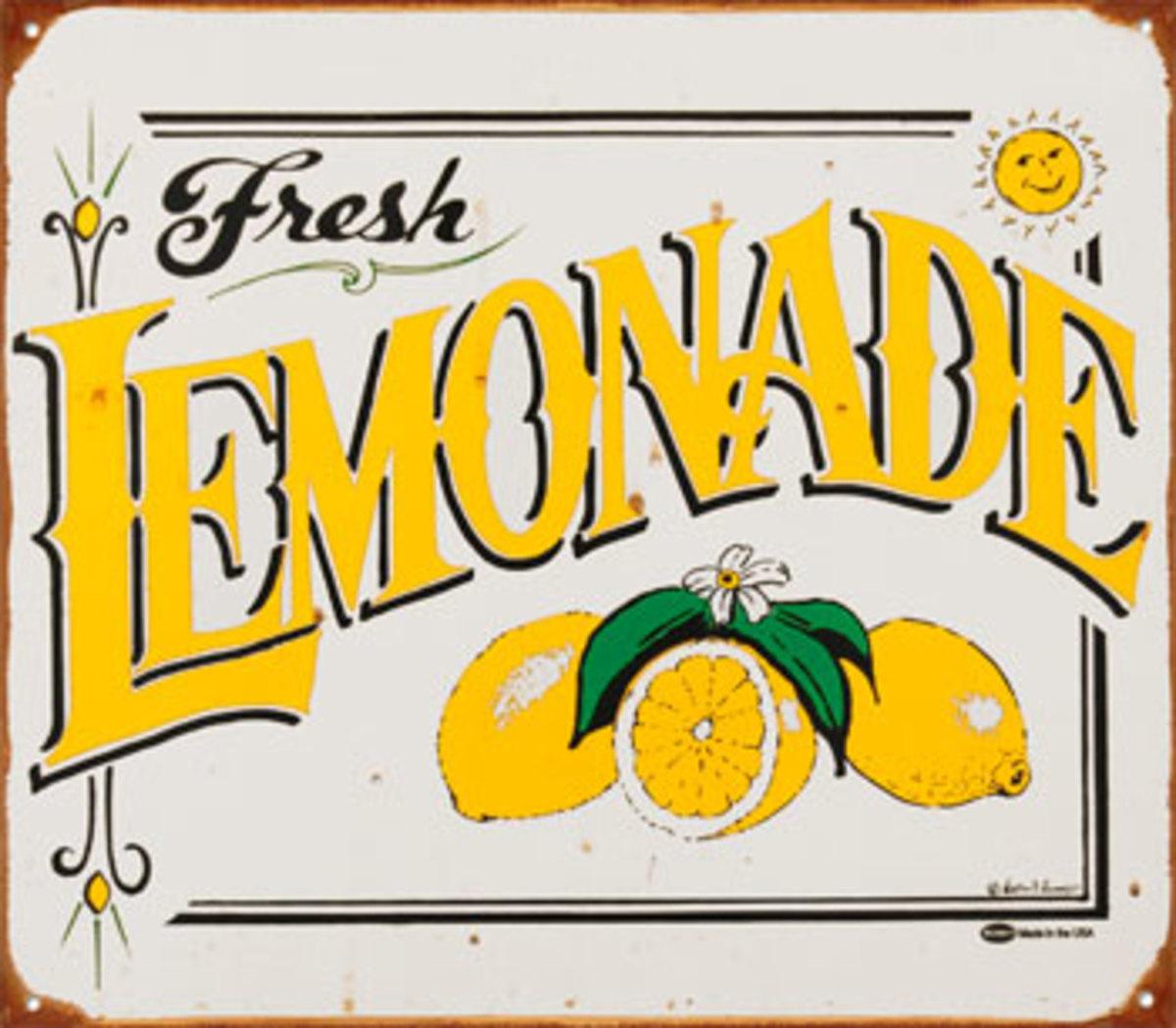 Ideas and Recipes for Lemonade Stands Lemonade Sign Ideas