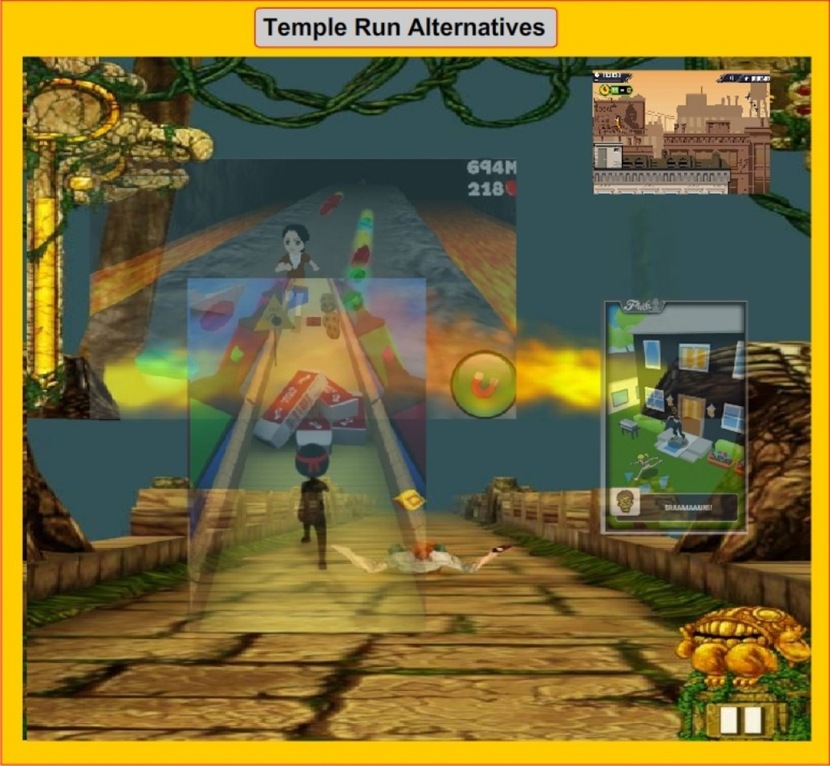 You may like to play some Temple Run alternative games