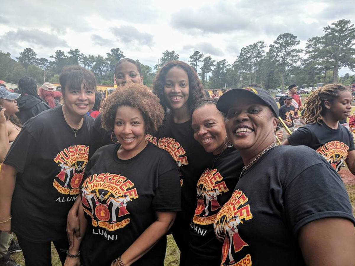 Alysia with friends at her alma mater, Tuskegee University, reunion event.