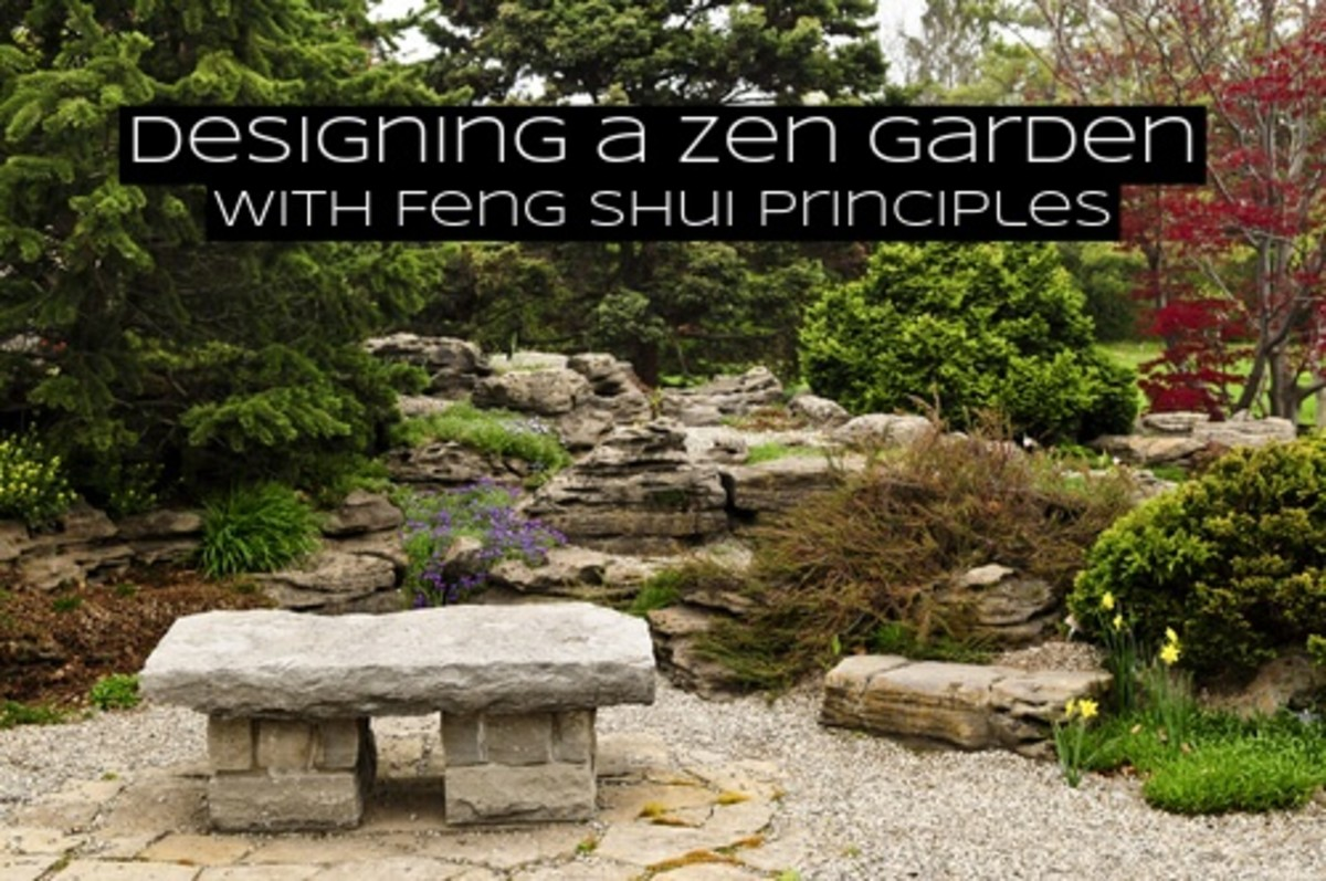 Earth feng shui can be used to help you strengthen your zen garden. The principles in the earth element are very similar to traditional zen gardens.