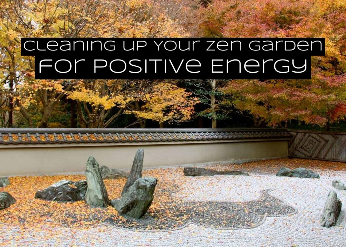 Cleaning a zen garden is important. You don't want your zen place to look neglected. A neglected zen space is a metaphor for a neglected spirit.