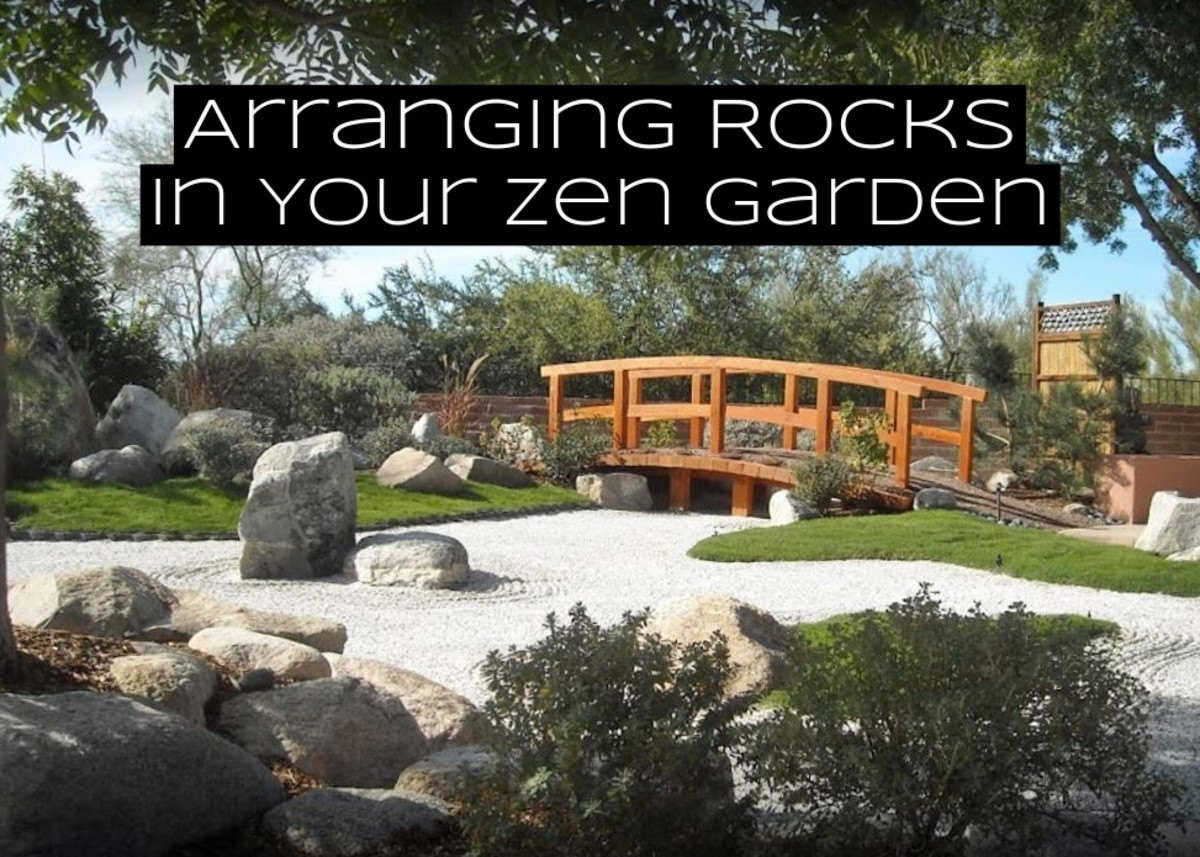 Rocks are the most important part of your zen garden. A lot of time will be spent considering the rocks you want to put into the space and where to place them and what it all represents.