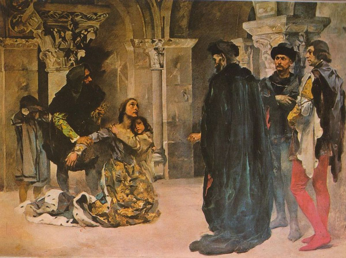 The Murder of Inês de Castro, painted by Columbano Bordalo Pinheiro, early in the 20th century.