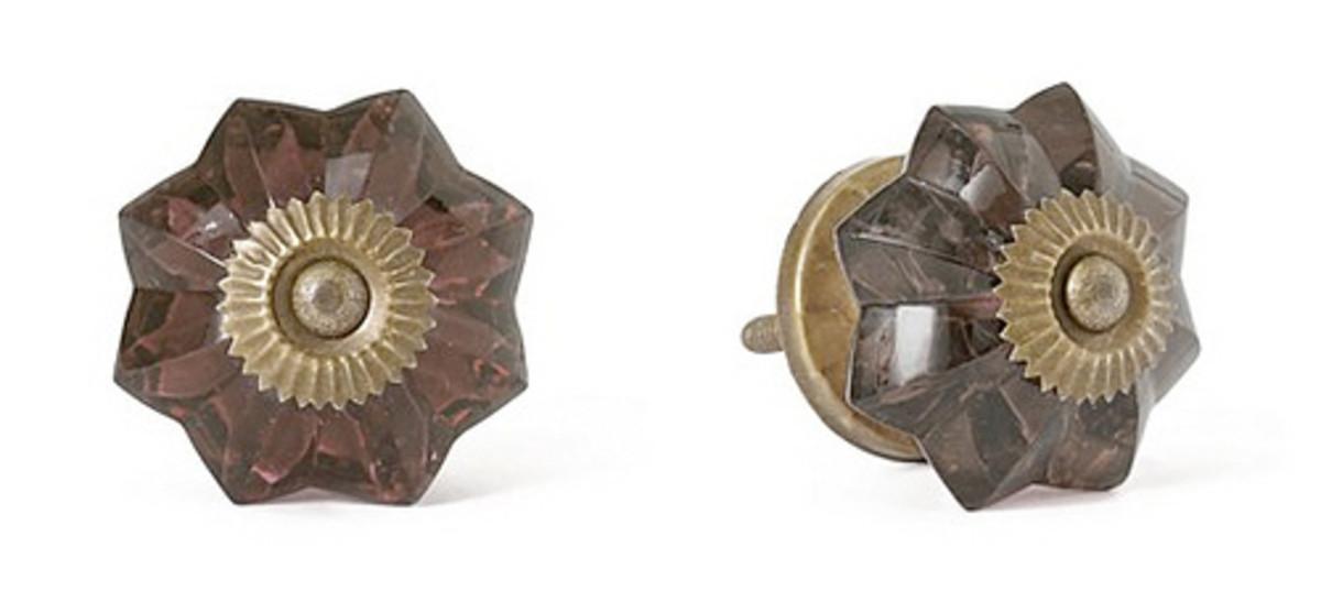 Elegant, cut glass knobs evoke a vintage feel.