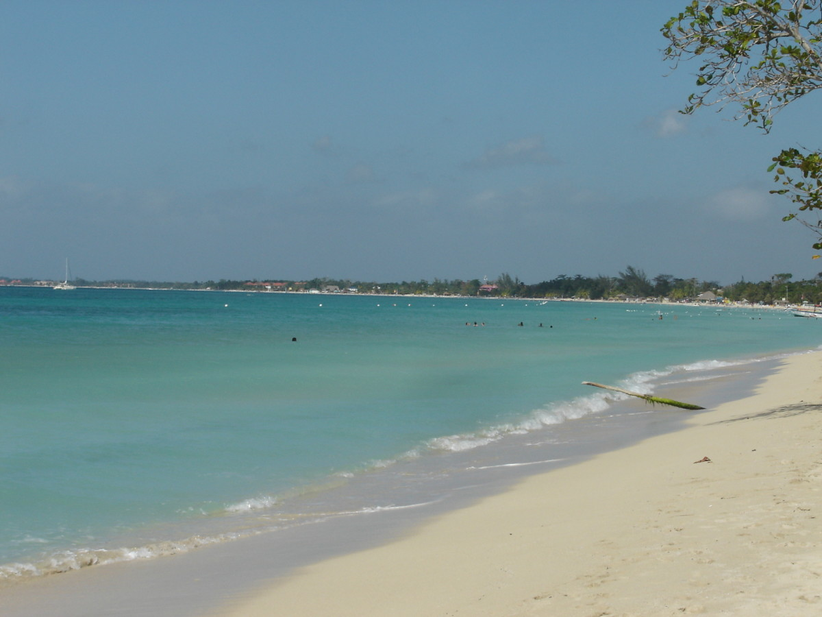 Negril Beach stretches and bends along the coast for miles. This is why beach lovers will love the town