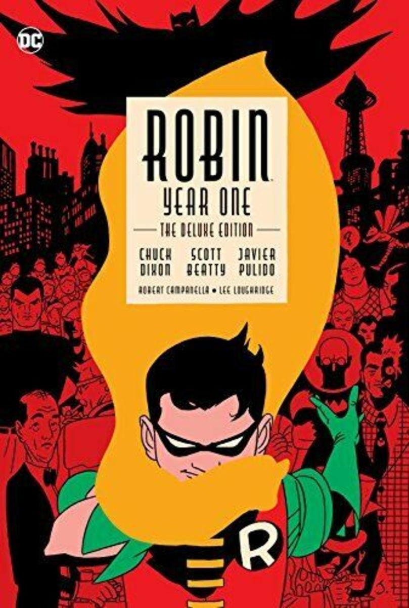"""""""Robin: Year One"""" deluxe edition cover."""