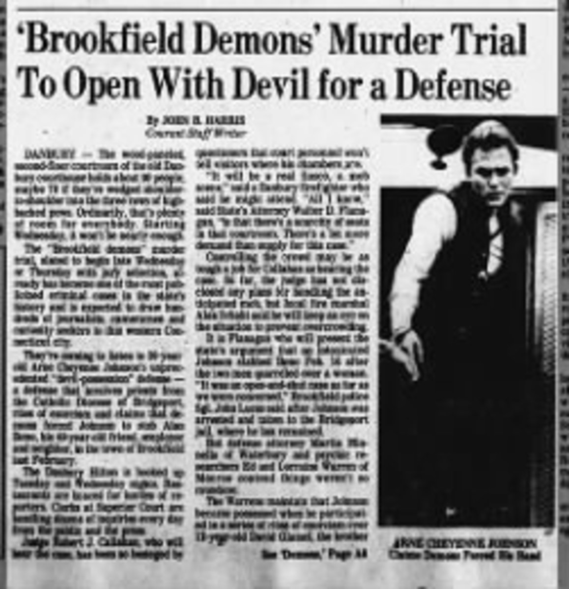 Newspaper clipping from the Hartford Courant