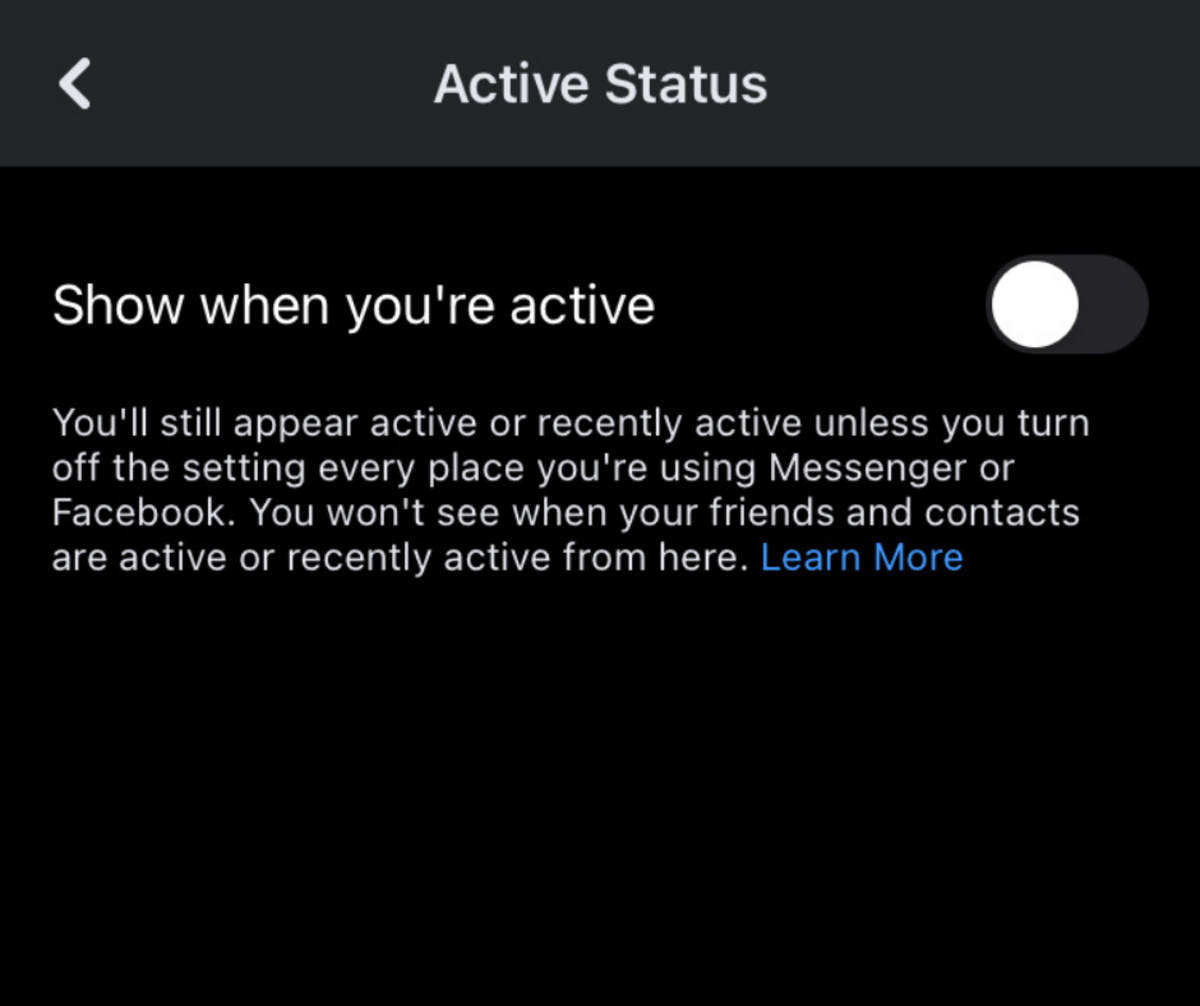 Hide your active status on Facebook.