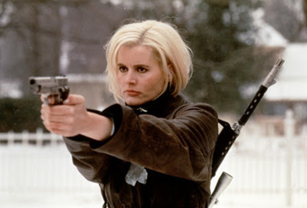 Davis is dynamite as the amnesiac assassin in the style of Jason Bourne, trading one-liners as easily as she does gunfire.