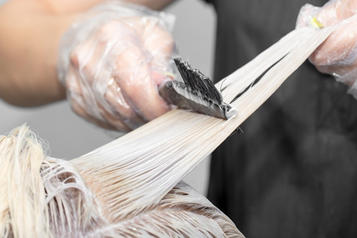 Sectioning your hair when bleaching is the easiest way to ensure even application and a perfect result.