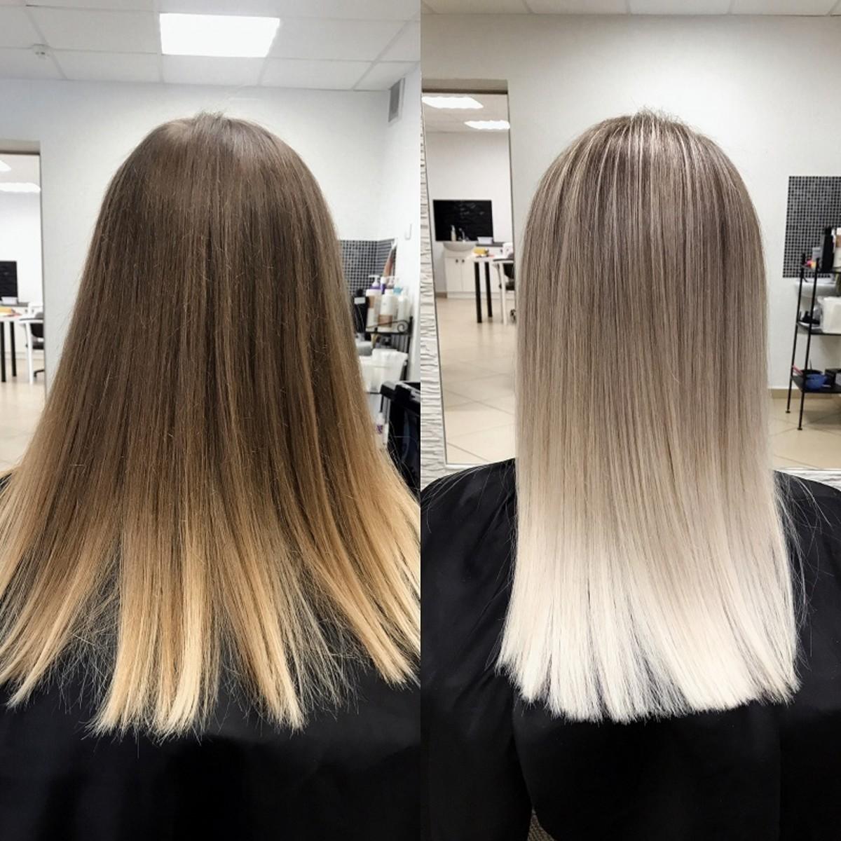 Toning transforms dull, brassy hair into a reflective, beautiful shade.