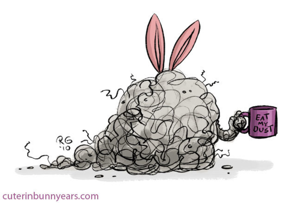 Dust bunny with ears. Get it? Bunny ears?