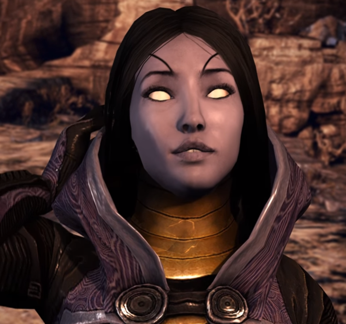 A fan render of Tali's face that should have been in the game.