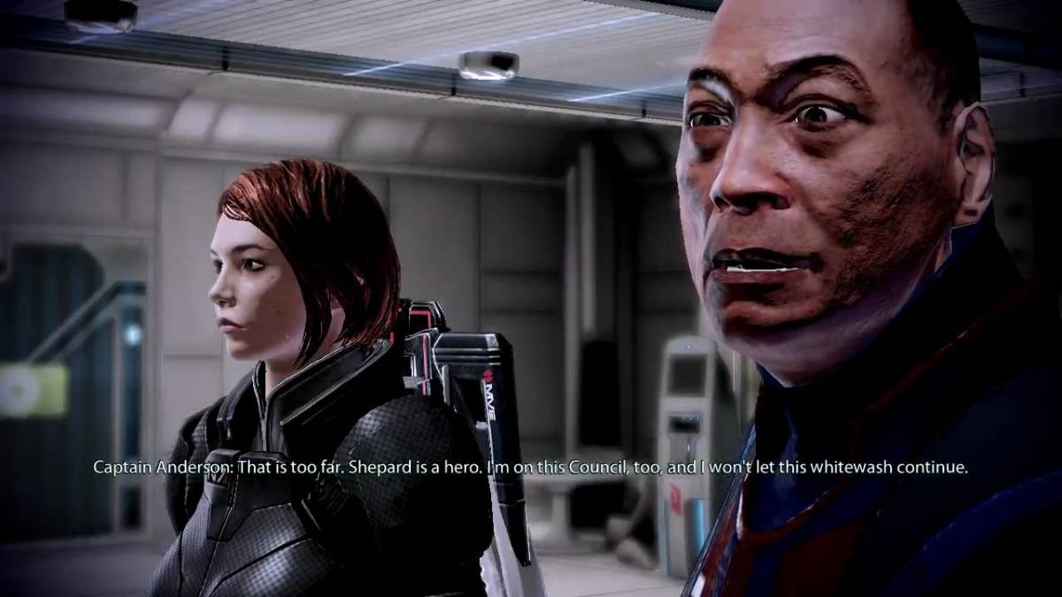 Anderson defends Shepard from the council.