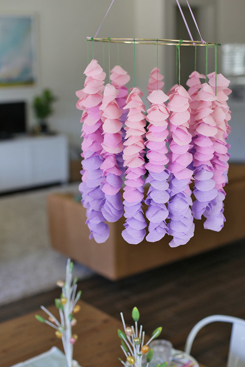 Create delicate wisteria hanging for any special occassion