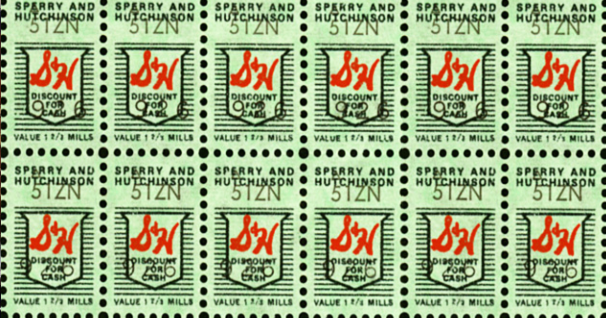 In 1951, the first S&H Green (trading) Stamps were given out at King Sooper, a Denver, Colorado grocery store chain.