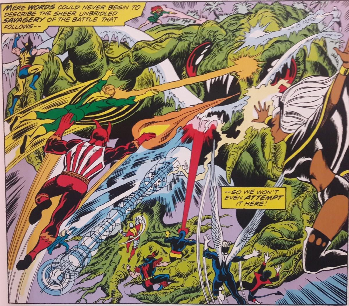 X-Men vs. the Living Island