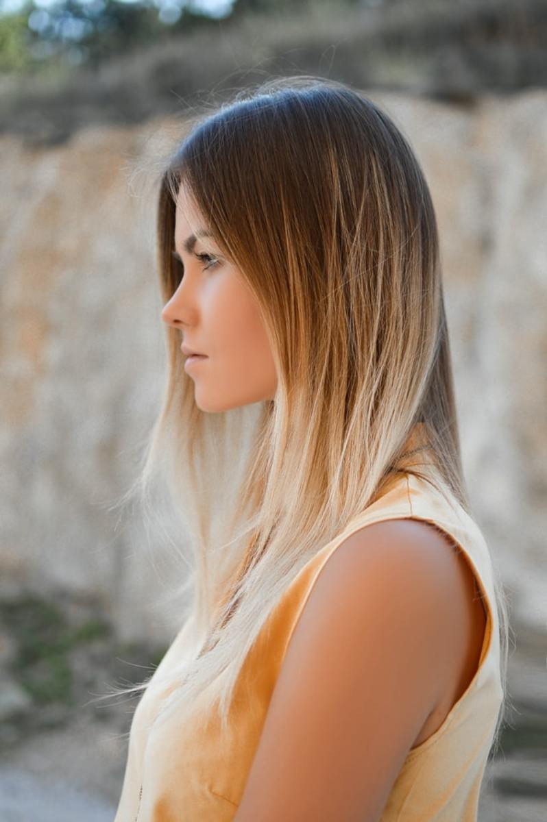 Hair that is hydrated and properly cared for looks smooth and beautiful.