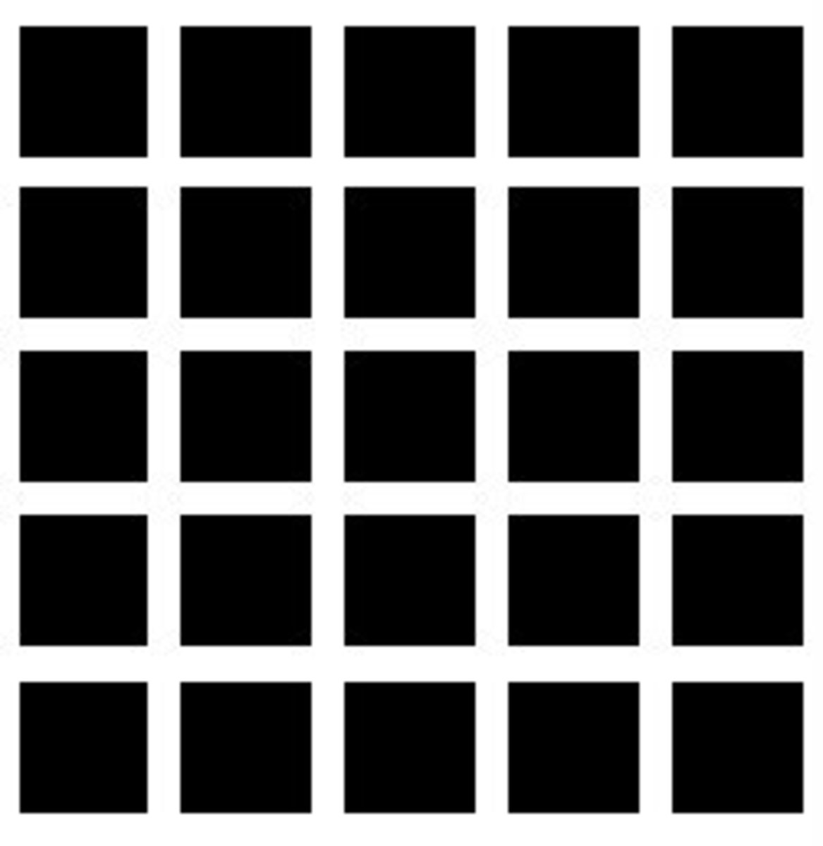 Nope nope! No gray spots at all at the corners of the squares!