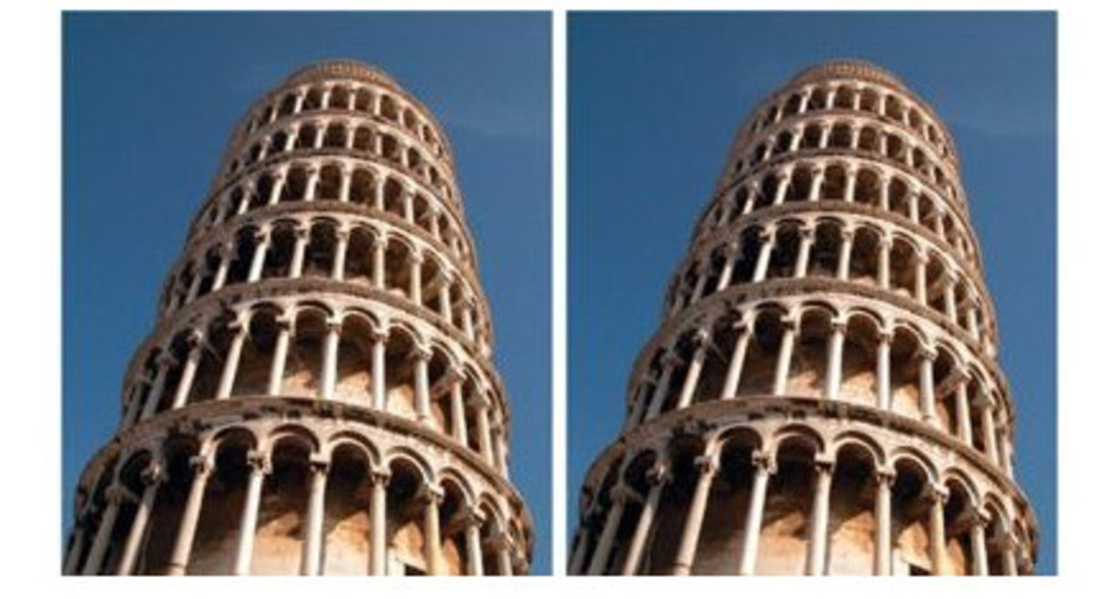 The leaning tower of Pisa on the right seems to lean more towards the right. But the truth is -- both the images are identical!